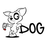 Cute dog cartoon adoption sketch Royalty Free Stock Images