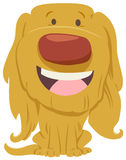 Cute dog cartoon character. Cartoon Illustration of Happy Hairy Dog or Puppy Animal Character Royalty Free Stock Image