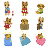 Cute Dog Cartoon Collection Royalty Free Stock Photography