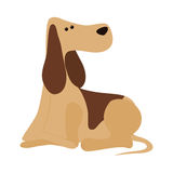 Cute dog cartoon icon Stock Image