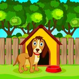 Cute dog cartoon stock illustration