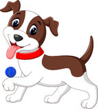 Cute dog cartoon. Illustration of Cute dog cartoon royalty free illustration
