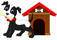 Cute dog cartoon. Illustration of Cute dog cartoon stock illustration