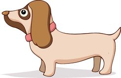 Cute dog cartoon. Illustration of Cute dog cartoon vector Royalty Free Stock Photography