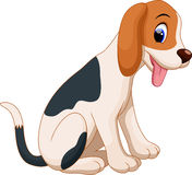 Cute dog cartoon. Cute dog poking her tongue vector illustration