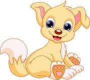 Cute dog cartoon vector illustration