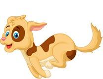 Cute dog cartoon running Royalty Free Stock Images