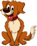 Cute Dog Cartoon Sitting Royalty Free Stock Photos