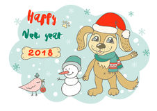 Cute dog in cartoon style Royalty Free Stock Photography