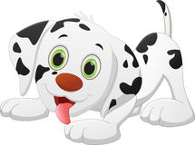 Cute dog cartoon. Vector illustration of cute dog cartoon on white stock illustration