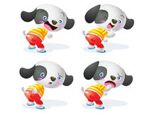 Cute dog character. Cute dog cartoon character action many emotion Royalty Free Stock Photo