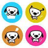Cute dog colorful buttons Royalty Free Stock Image