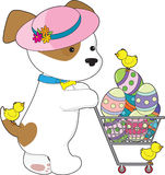 Cute Dog Easter Eggs Royalty Free Stock Images