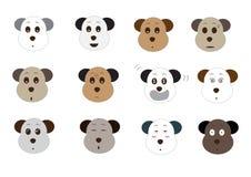 Cute dog emoji Royalty Free Stock Image