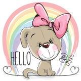 Cute Dog Girl vector illustration