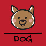 Cute dog hand-drawn style, vector illustration. Cute dog hand-drawn style,drawing,hand drawn vector illustration Stock Photography