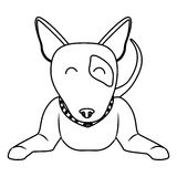 Cute dog icon Royalty Free Stock Image