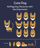 Cute dog. Dog illustration with facial expression for animation Royalty Free Stock Photography