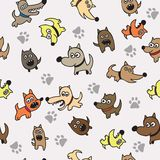 Cute dog seamless background Royalty Free Stock Images