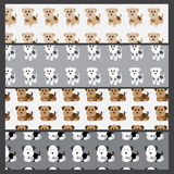 Cute dog seamless pattern Royalty Free Stock Images