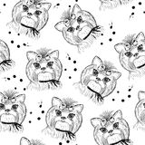 Cute dog seamless pattern on a white background Royalty Free Stock Image