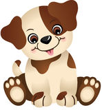 Cute dog sitting. Scalable vectorial image representing a cute dog sitting,  on white Stock Photos