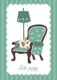 Cute dog sleeping in armchair. Vector illustration, cute dog sleeping in armchair Vector Illustration