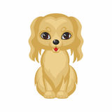 Cute dog Spaniel. Spaniel dog. Vector image of a cute purebred dogs in cartoon style Royalty Free Stock Photo