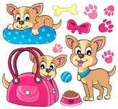 Cute Dog Theme Image 1 Stock Images