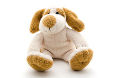 Cute dog toy shot on a white background. stock photo