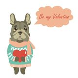Cute dog wants to be a Valentine Stock Photography