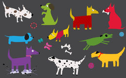 Cute dogs characters Stock Photo