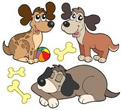 Cute dogs collection. Vector illustration Royalty Free Stock Photography