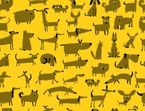 Cute dogs collection, seamless pattern for your design. Cute dogs collection, sea,less pattern for your design. Vector illustration Royalty Free Stock Photo