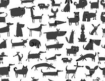 Cute dogs collection, seamless pattern for your design. Cute dogs collection, sea,less pattern for your design. Vector illustration Stock Photography