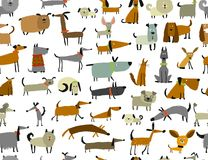 Cute dogs collection, seamless pattern for your design. Cute dogs collection, sea,less pattern for your design. Vector illustration Royalty Free Stock Image