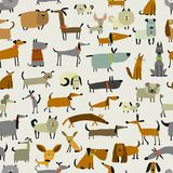 Cute dogs collection, seamless pattern for your design. Cute dogs collection, sea,less pattern for your design. Vector illustration Stock Images