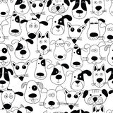 Cute dogs. Doodle style. Vector seamless pattern royalty free illustration
