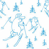 Cute dogs pattern Stock Photos