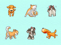 Cute dogs. With seamless pattern Royalty Free Stock Images