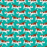Cute dogs seamless pattern. Background with pets character in do. Odle simple style. Vector illustration for fabric, textile, wrapping, other surfaces Stock Photography