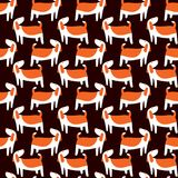 Cute dogs seamless pattern. Background with pets character in do. Odle simple style. Vector illustration for fabric, textile, wrapping, other surfaces Stock Image