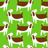 Cute dogs seamless pattern. Background with pets character in do. Odle simple style. Vector illustration for fabric, textile, wrapping, other surfaces Royalty Free Stock Photography