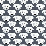Cute dogs seamless pattern Royalty Free Stock Photos