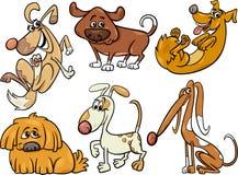 Cute dogs set cartoon illustration Royalty Free Stock Photography