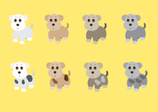 Cute dogs side standing Royalty Free Stock Image