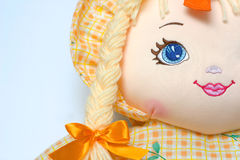 Cute Doll Detail II. Detail of a colorful doll Royalty Free Stock Photos