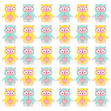 Cute Doll pattern Royalty Free Stock Image
