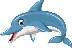 Cute dolphin cartoon Stock Image