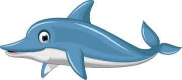 Cute dolphin cartoon Stock Photography